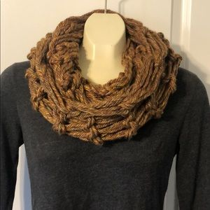 NWT handmade arm knit infinity scarf fall colors